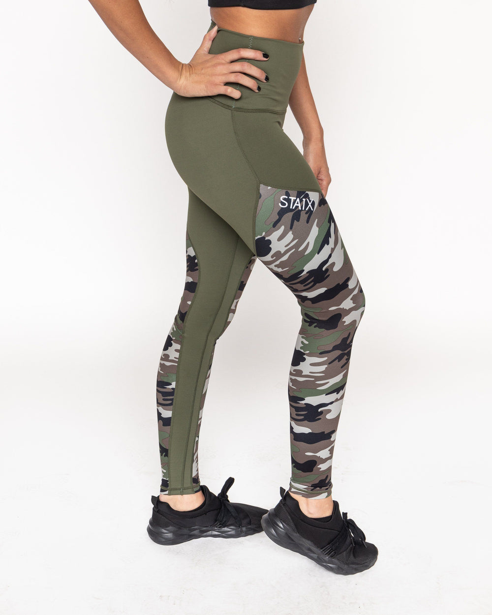 V-SCRUNCH LEGGINGS WOMEN'S LEGGINGS STAIX S GREEN CAMO