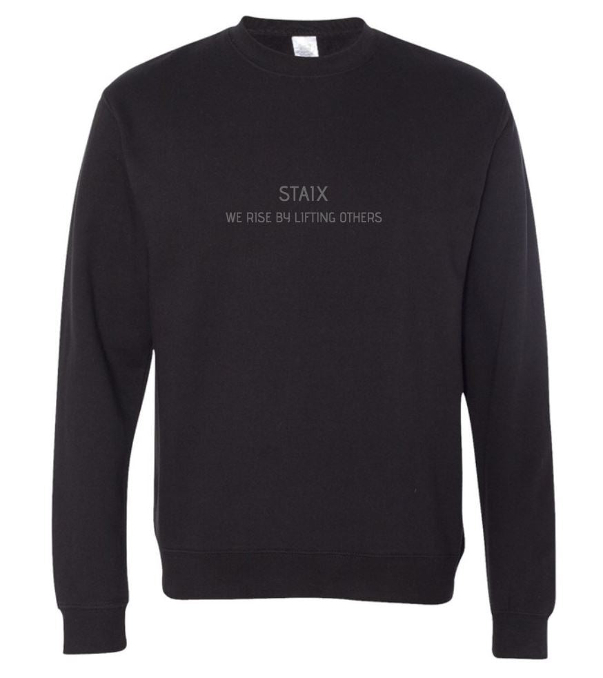 WE RISE Crew Neck - Black STAIX