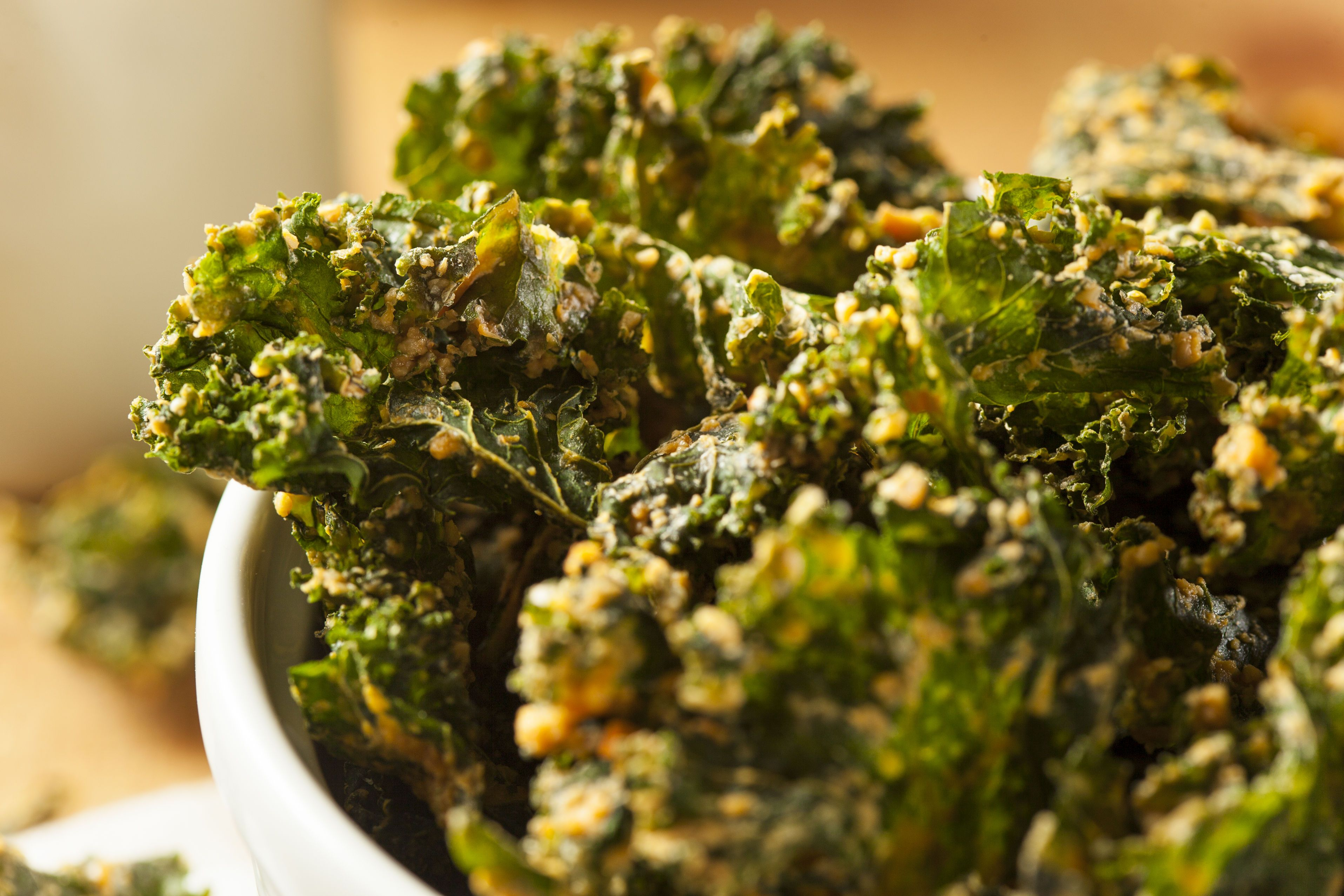 kale chips with vegan cheese