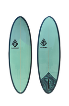 "Load image into Gallery viewer, Paragon Retro Egg 6'6"" SeaWeed Surfboard"