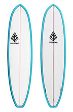 "Load image into Gallery viewer, Paragon Lil Dipper 6'11"" White -Turquoise Rails Surfboard"