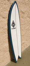 "Load image into Gallery viewer, Paragon Retro Fish 6'0"" Surfboard - White with Orion Blue Rails"