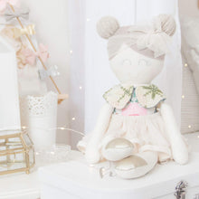 "Load image into Gallery viewer, ""Luxe"" Modern Heirloom Cloth Doll Ballerina - Chelsea"