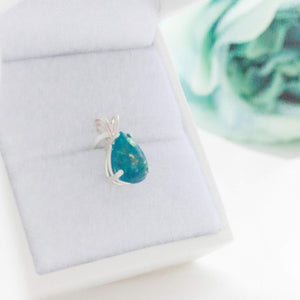 "Memories in Threads ""Trixie"" Teardrop Pendant"