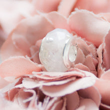 Load image into Gallery viewer, RubyBabyDesigns Keepsake Collective Memories in Threads Wedding Dress Ballerina Heirloom Keepsake European Bead, wedding dress, memory doll, bride, bead created from a wedding dress, keepsake, memory bead, personalised, custom made to order, made in melbourne, handmade, wedding keepsake, resin, epoxy resin, charm, european bead, lace, white, silver, sterling silver, tulle