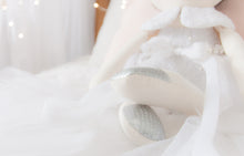 Load image into Gallery viewer, RubyBabyDesigns Keepsake Collective Memories in Threads Wedding Dress Ballerina Heirloom Keepsake Cloth Doll, cloth doll, wedding dress, memory doll, bride, doll created from a wedding dress, keepsake, memory bead, personalised, custom made to order, made in melbourne, handmade, wedding keepsake, ballerina, tutu, felt, cotton, lace, white, brown, silver, tulle