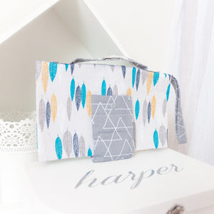 RubyBabyDesigns Keepsake Collective Classic Nappy Wallet, made in 100% cotton, handmade in Melbourne.