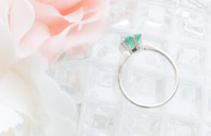 RubyBabyDesigns Keepsake Collective Heirloom Keepsake Ella Elegant Ring featuring a handmade gem featuring inclusions such as cremation ashes, preserved breastmilk or flowers, locks of hair and clothing. Hand crafted gem made in Melbourne. Sterling Silver setting with 6 prongs.