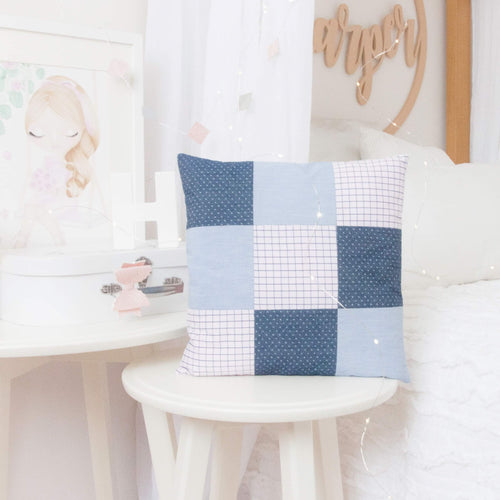 RubyBabyDesigns Keepsake Collective Quinn Quilted Heirloom Keepsake Pillow. Taking special memories of clothing and turning them into a keepsake to treasure. Handmade and designed in Melbourne. Approx 30cm x 30cm square. Featuring 9 quilted squares.