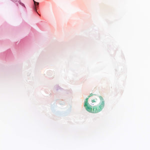 Birthstone Resin European Beads