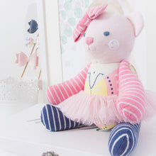 "Load image into Gallery viewer, Memories in Threads - Classic ""Biscuit"" Bear Heirloom Cloth Doll Collection"