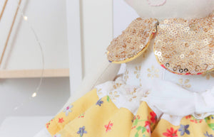 "Memories in Threads - ""Luxe Ballerina"" Heirloom Cloth Doll Collection"