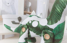 "Load image into Gallery viewer, ""OOAK SALE"" Duke the Dinosaur Modern Heirloom Cloth Doll - FERN"