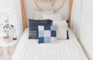 "Memories in Threads - ""Cory"" Classic Plain Pillow"