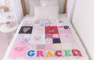 "Memories in Threads - Classic Sammy ""SQUARE"" Heirloom Keepsake Quilt"