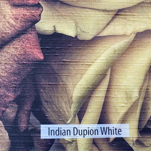 Indian Dupion White