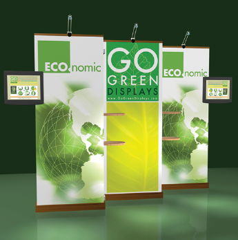 retractable banner stands with graphics on blockout polypropylene