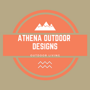 Athena Outdoor Designs logo that sell outdoor equipment, furniture, and home accessories