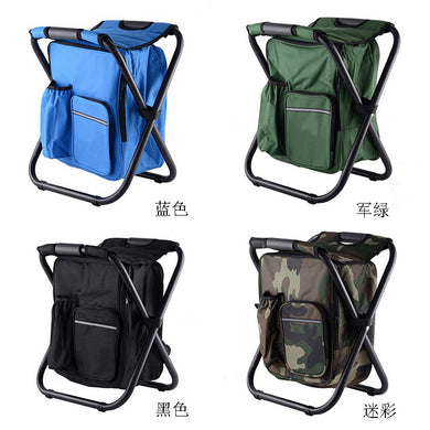Multifunctional Folding Stool Portable Ice Pack Stool with Thermal Insulation Bag Can Carry Back Fishing Stool Beach Chair.