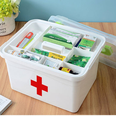 Portable Household First-Aid Kit (container only)