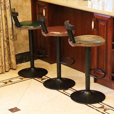 Industrial Vintage Swivel Counter Bar Stool
