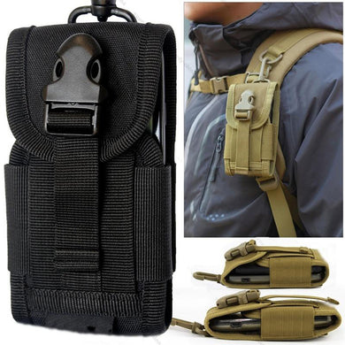 Hanging Bag Money Pocket Tactical Cell Phone Pack Portable Waist with Buckle