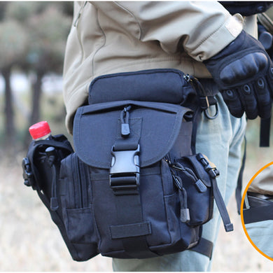 Tactical CORDURA NYLON 900D Multifunctional Military Shoulder Bags Army Leg Waist Bags Electrical Tool Thigh Bags + Kettle Bag