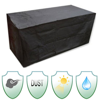 Outdoor Furniture Sofa Cover 180*120*74cm Garden Patio Chair Waterproof Polyester + PVC Coated Table Desk Black Silver Color