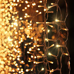 10Ft. 300-LED Warm White String Curtain Lights