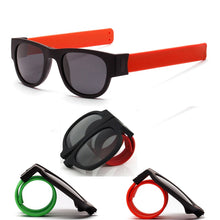 Load image into Gallery viewer, Slap Wrist Foldable Travel Sunglasses