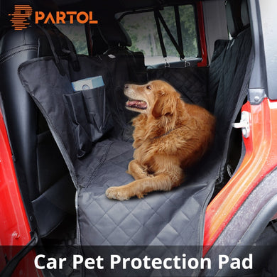 Waterproof Travel Pet Car Seat Covers For Trunk Or Back Seat, And Carrier Bag