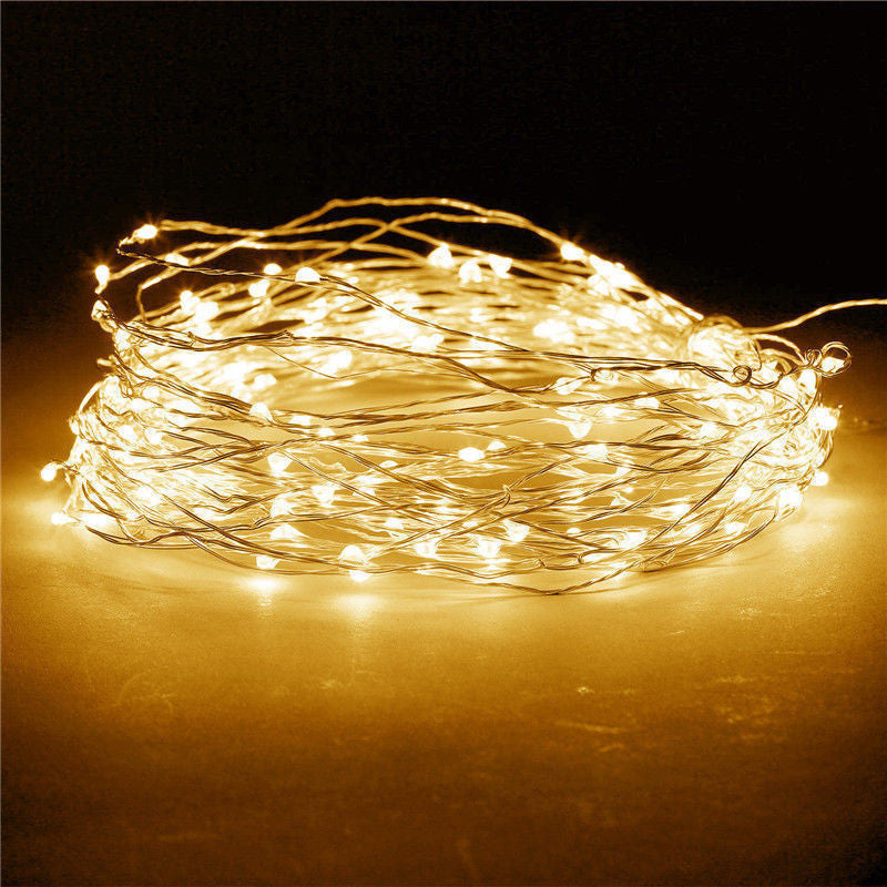 3M 30LED Battery Operated Mini LED Copper Wire String Fairy Lights Home Decro