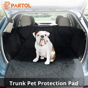 Partol Oxford Fabric Pet Car Seat Covers Waterproof Dog Car Trunk Mat for SUV Travel Accessories Auto Mat Car Trunk Protector