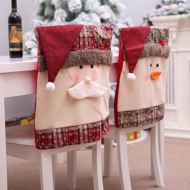 Santa Hat Chair Covers Santa Clause Red Hat Chair Back Covers Kitchen Chair Covers Sets for Christmas Holiday Festive Decor