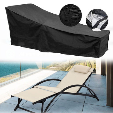 Water Resistant Sunlounger Cover Sun Lounge Chair Cover Patio Outdoor Day Chaise Cover Furniture Dust Protector