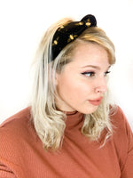 Top Knot Headband - Honey Bee Print