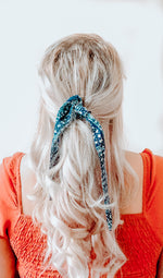 Hair Ribbon / Neck Scarf -  Bohemian Amelia Print
