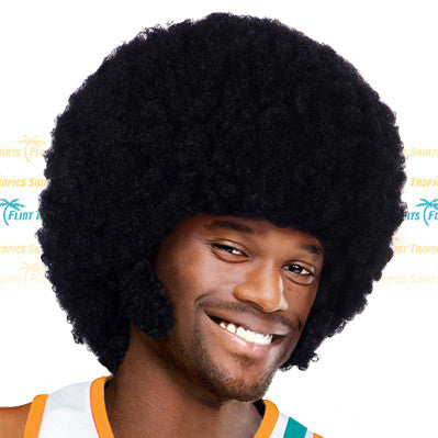 Black Afro and Chops Wig