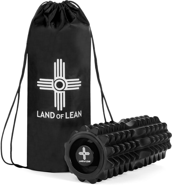 Land of Lean High Density Foam Roller with Travel Bag