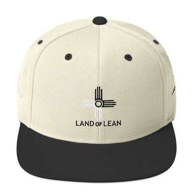 Land of Lean Snapback Hat - Green Under Visor - (Black & White Zia)