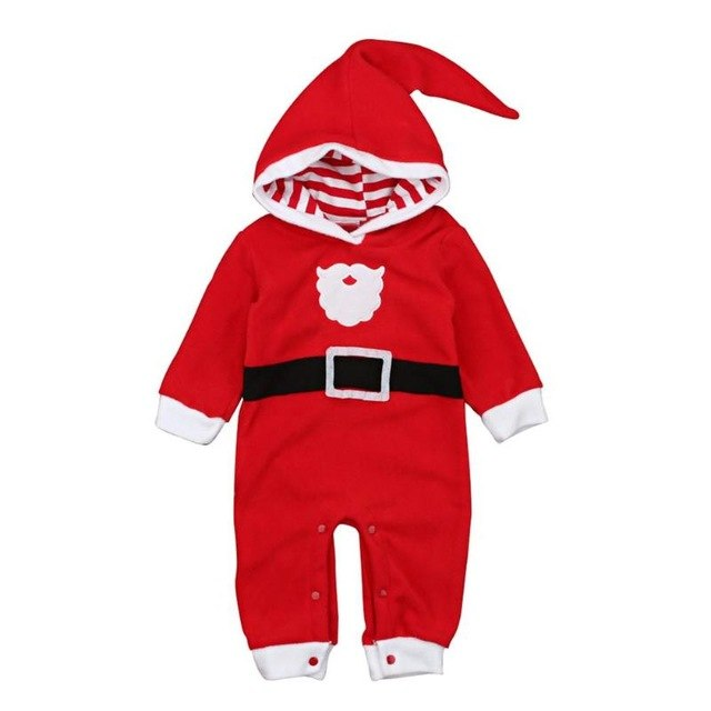 0af0b331135d6 Newborn Baby Christmas Rompers Thicken Warm Baby Jumpsuit Long Sleeve Boys  Girls Romper Soft Children Hooded Clothes Cute Outfit