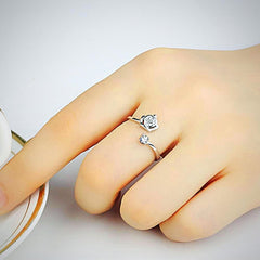 Vivina Store | BEST DEALS | Christmas Gifts | BEST GIFTS |Thanksgiving | BEST PRICES | Black Friday | BUY NOW | Shopping | Online shopping | Get yours TODAY | Open Silver Ring with a heart