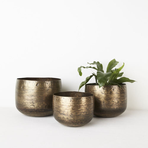 Round Pot Brass - Assorted sizes