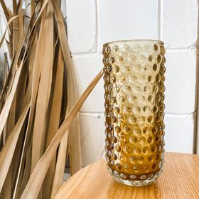Brown Glass Vase - Raised Spots