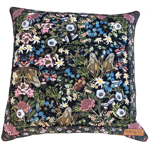 Wandering Folk Native Wildflower Cushion Cover - Large