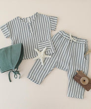Load image into Gallery viewer, Rylee + Cru - Storm Stripe Hawthorne Trouser - Storm Stripe