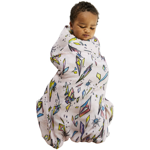 Kip & Co Rainbow Cosmos Baby Swaddle