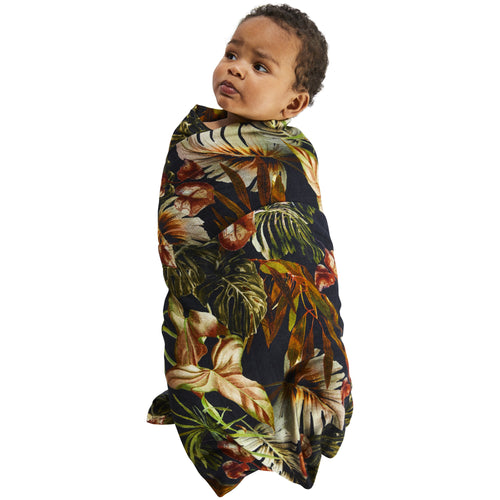 Kip & Co Night Jungle Bamboo  Baby Swaddle