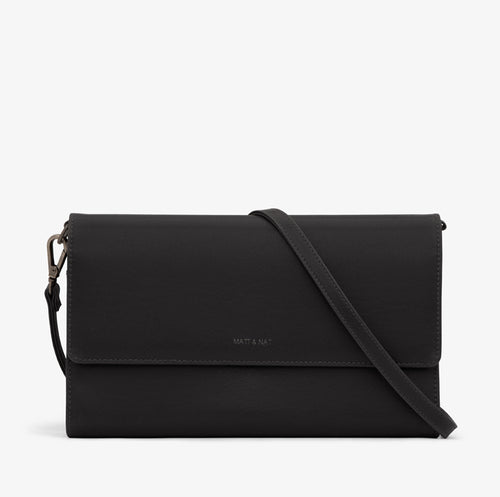 Matt & Nat - Drew Vintage Crossbody Bag - Black