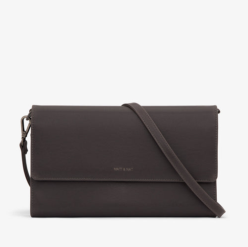 Matt & Nat - Drew Vintage Crossbody Bag - Charcoal